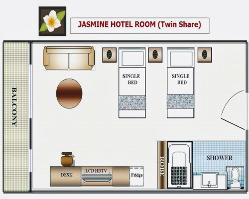 Cairns-Queenslander-Jasmine-Hotel-Room (20)
